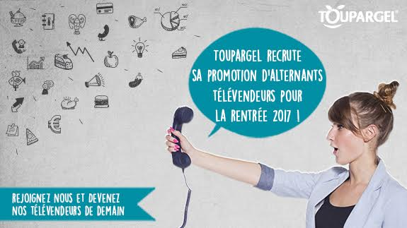 Recrutement promotion alternants télévendeurs rentrée 2017